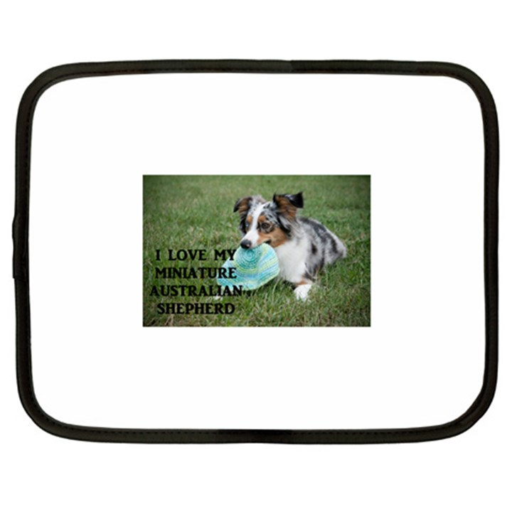 Blue Merle Miniature American Shepherd Love W Pic Netbook Case (Large)