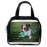 Blue Merle Miniature American Shepherd Love W Pic Classic Handbags (One Side) Front