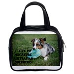 Blue Merle Miniature American Shepherd Love W Pic Classic Handbags (2 Sides) Front