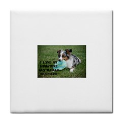 Blue Merle Miniature American Shepherd Love W Pic Face Towel