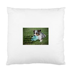 Blue Merle Miniature American Shepherd Love W Pic Standard Cushion Case (Two Sides)