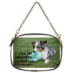 Blue Merle Miniature American Shepherd Love W Pic Chain Purses (Two Sides)