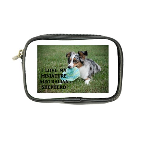 Blue Merle Miniature American Shepherd Love W Pic Coin Purse