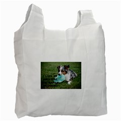Blue Merle Miniature American Shepherd Love W Pic Recycle Bag (Two Side)