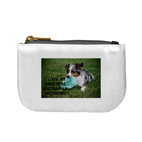 Blue Merle Miniature American Shepherd Love W Pic Mini Coin Purses