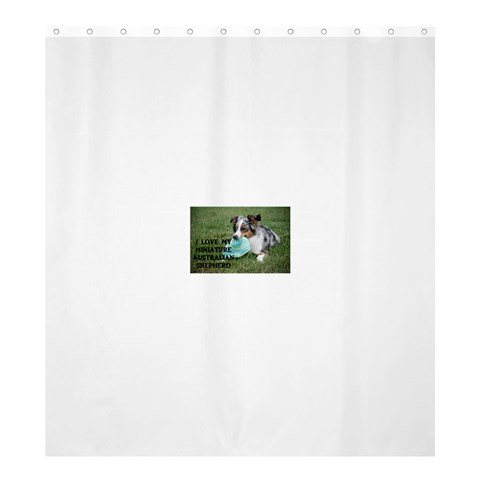 Blue Merle Miniature American Shepherd Love W Pic Shower Curtain 66  x 72  (Large)