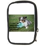 Blue Merle Miniature American Shepherd Love W Pic Compact Camera Cases Front