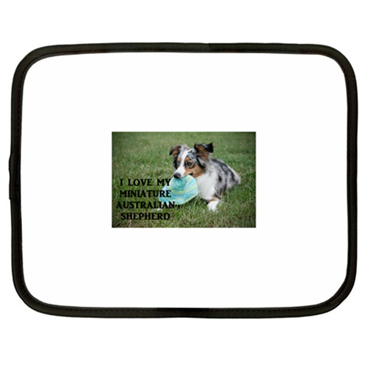 Blue Merle Miniature American Shepherd Love W Pic Netbook Case (XXL)