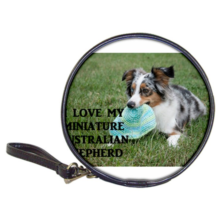 Blue Merle Miniature American Shepherd Love W Pic Classic 20-CD Wallets