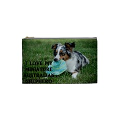 Blue Merle Miniature American Shepherd Love W Pic Cosmetic Bag (Small)