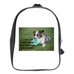 Blue Merle Miniature American Shepherd Love W Pic School Bags(Large)  Front