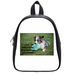 Blue Merle Miniature American Shepherd Love W Pic School Bags (Small)