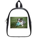 Blue Merle Miniature American Shepherd Love W Pic School Bags (Small)  Front