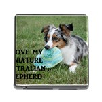 Blue Merle Miniature American Shepherd Love W Pic Memory Card Reader (Square) Front