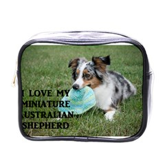 Blue Merle Miniature American Shepherd Love W Pic Mini Toiletries Bags