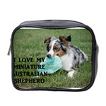Blue Merle Miniature American Shepherd Love W Pic Mini Toiletries Bag 2-Side Front