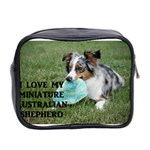 Blue Merle Miniature American Shepherd Love W Pic Mini Toiletries Bag 2-Side Back