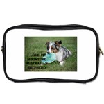 Blue Merle Miniature American Shepherd Love W Pic Toiletries Bags Front