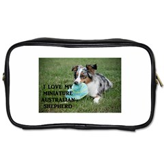 Blue Merle Miniature American Shepherd Love W Pic Toiletries Bags 2-Side