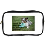 Blue Merle Miniature American Shepherd Love W Pic Toiletries Bags 2-Side Back
