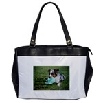 Blue Merle Miniature American Shepherd Love W Pic Office Handbags Front