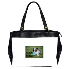 Blue Merle Miniature American Shepherd Love W Pic Office Handbags (2 Sides)
