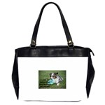 Blue Merle Miniature American Shepherd Love W Pic Office Handbags (2 Sides)  Front