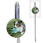 Blue Merle Miniature American Shepherd Love W Pic Book Mark Front