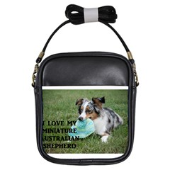 Blue Merle Miniature American Shepherd Love W Pic Girls Sling Bags