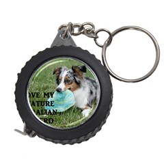 Blue Merle Miniature American Shepherd Love W Pic Measuring Tapes