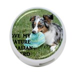 Blue Merle Miniature American Shepherd Love W Pic 4-Port USB Hub (One Side) Front