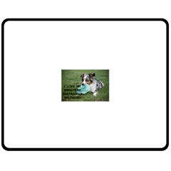 Blue Merle Miniature American Shepherd Love W Pic Fleece Blanket (Medium)