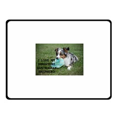 Blue Merle Miniature American Shepherd Love W Pic Fleece Blanket (Small)