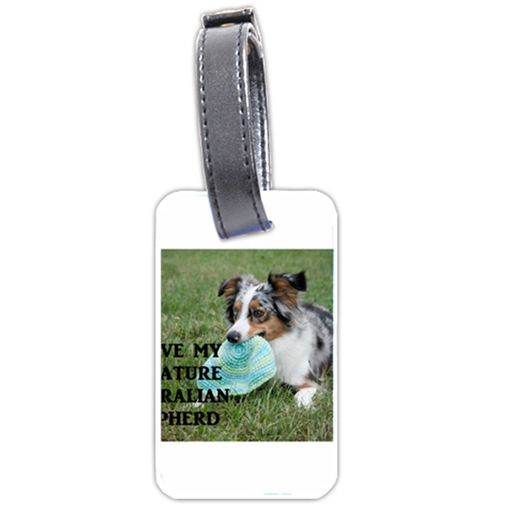 Blue Merle Miniature American Shepherd Love W Pic Luggage Tags (One Side)