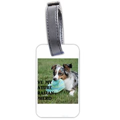 Blue Merle Miniature American Shepherd Love W Pic Luggage Tags (Two Sides)