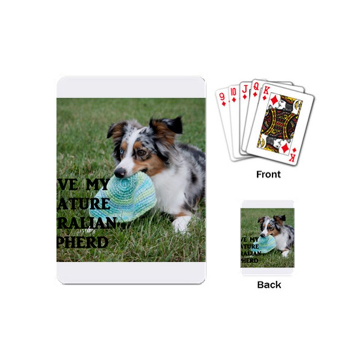 Blue Merle Miniature American Shepherd Love W Pic Playing Cards (Mini)