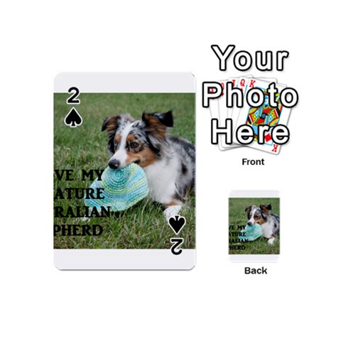 Blue Merle Miniature American Shepherd Love W Pic Playing Cards 54 (Mini)