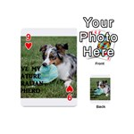 Blue Merle Miniature American Shepherd Love W Pic Playing Cards 54 (Mini)  Front - Heart9