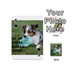 Blue Merle Miniature American Shepherd Love W Pic Playing Cards 54 (Mini)  Front - Spade5