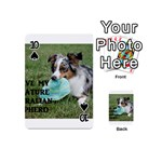 Blue Merle Miniature American Shepherd Love W Pic Playing Cards 54 (Mini)  Front - Spade10
