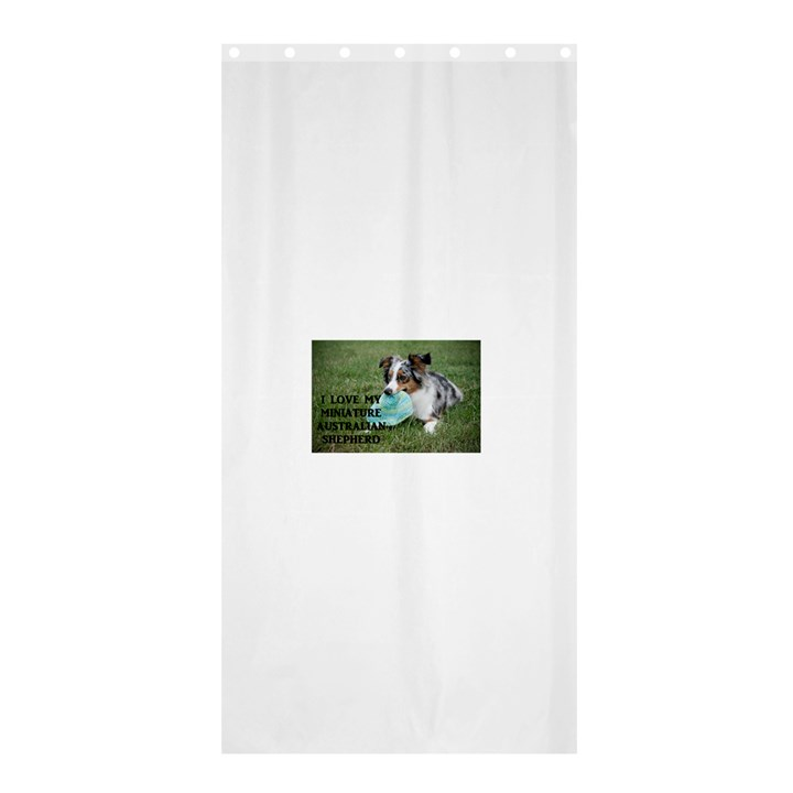 Blue Merle Miniature American Shepherd Love W Pic Shower Curtain 36  x 72  (Stall)