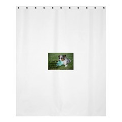 Blue Merle Miniature American Shepherd Love W Pic Shower Curtain 60  x 72  (Medium)