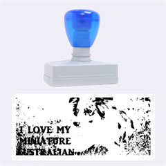 Blue Merle Miniature American Shepherd Love W Pic Rubber Stamps (Large)
