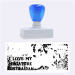 Blue Merle Miniature American Shepherd Love W Pic Rubber Stamps (Large) 2.26 x1.05  Stamp