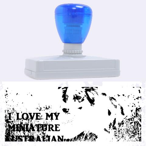 Blue Merle Miniature American Shepherd Love W Pic Rubber Address Stamps (XL)