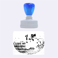 Blue Merle Miniature American Shepherd Love W Pic Rubber Oval Stamps