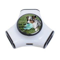 Blue Merle Miniature American Shepherd Love W Pic 3-Port USB Hub