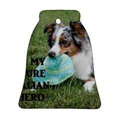 Blue Merle Miniature American Shepherd Love W Pic Bell Ornament (2 Sides)