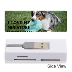 Blue Merle Miniature American Shepherd Love W Pic Memory Card Reader (Stick)