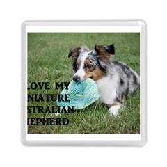 Blue Merle Miniature American Shepherd Love W Pic Memory Card Reader (Square)
